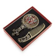 ALICE-Bronze-Antique-Hand-Mirror-and-Comb-Set-With-Gift-Box-0-0