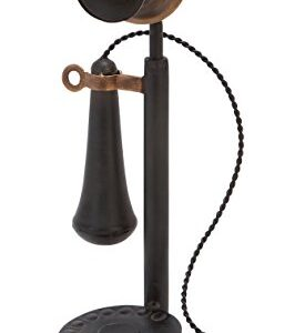 Antique-Metal-Phone-with-Receiver-and-Microphone-Non-Functioning-0