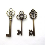 Aokbean-Mixed-Set-of-30-Vintage-Skeleton-Keys-in-Antique-Bronze-Set-of-30-Keys-0-2