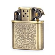 Bronzy-Carved-Constantine-Antique-Style-Lift-Arm-Oil-Petrol-Lighter-0-0