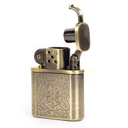 Bronzy-Carved-Constantine-Antique-Style-Lift-Arm-Oil-Petrol-Lighter-0-1