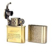 Bronzy-Carved-Constantine-Antique-Style-Lift-Arm-Oil-Petrol-Lighter-0-2