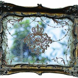 Creative-Co-Op-Antique-Gold-Resin-Mirrored-Tray-0