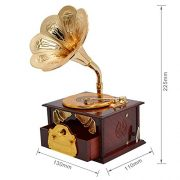 Fding-Classical-Trumpet-Horn-Turntable-Gramophone-Art-Disc-Music-Box-Make-up-Case-Jewelry-Box-Home-Decor-Brown-0-0