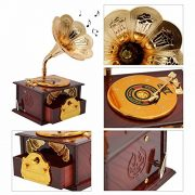 Fding-Classical-Trumpet-Horn-Turntable-Gramophone-Art-Disc-Music-Box-Make-up-Case-Jewelry-Box-Home-Decor-Brown-0-1