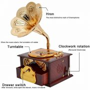 Fding-Classical-Trumpet-Horn-Turntable-Gramophone-Art-Disc-Music-Box-Make-up-Case-Jewelry-Box-Home-Decor-Brown-0-2