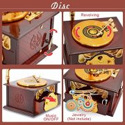Fding-Classical-Trumpet-Horn-Turntable-Gramophone-Art-Disc-Music-Box-Make-up-Case-Jewelry-Box-Home-Decor-Brown-0-3