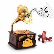 Fding-Classical-Trumpet-Horn-Turntable-Gramophone-Art-Disc-Music-Box-Make-up-Case-Jewelry-Box-Home-Decor-Brown-0-5