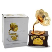Fding-Classical-Trumpet-Horn-Turntable-Gramophone-Art-Disc-Music-Box-Make-up-Case-Jewelry-Box-Home-Decor-Brown-0-6