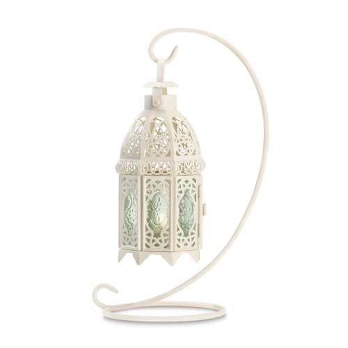 Gifts-Decor-White-Fancy-Antique-Lattice-Candle-Lantern-with-Stand-0