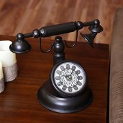 Lilys-Home-Old-Fashioned-Black-Vintage-Rotary-Telephone-Clock-0-0