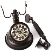 Lilys-Home-Old-Fashioned-Black-Vintage-Rotary-Telephone-Clock-0-1