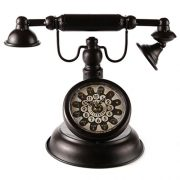 Lilys-Home-Old-Fashioned-Black-Vintage-Rotary-Telephone-Clock-0