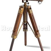Nautical-Brass-Antique-Telescope-Spyglass-With-Wooden-Stand-Home-Decor-Gift-0-0