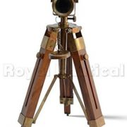 Nautical-Brass-Antique-Telescope-Spyglass-With-Wooden-Stand-Home-Decor-Gift-0-1