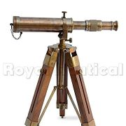 Nautical-Brass-Antique-Telescope-Spyglass-With-Wooden-Stand-Home-Decor-Gift-0-2