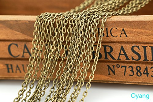 Oyang-32-Feet-Antique-Bronze-Plated-Twisted-Cross-Chains-0