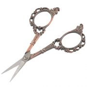 Souarts-European-Style-Classic-Pattern-Precision-Straight-Sewing-Scissors-Antique-Bronze-Color-0