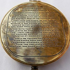 Vintage-Antique-Robert-Frost-Poem-Compass-C-3142-0