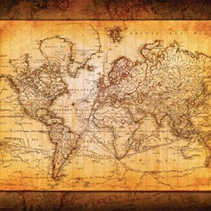 World-Map-Antique-Vintage-Old-Style-Decorative-Educational-Poster-Print-16x20-Unframed-0
