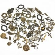 Yueton-100-Gram-Approx-70pcs-Assorted-Antique-Charms-Pendant-for-Crafting-Jewelry-Making-Accessory-Bronze-0-0