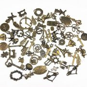 Yueton-100-Gram-Approx-70pcs-Assorted-Antique-Charms-Pendant-for-Crafting-Jewelry-Making-Accessory-Bronze-0-1